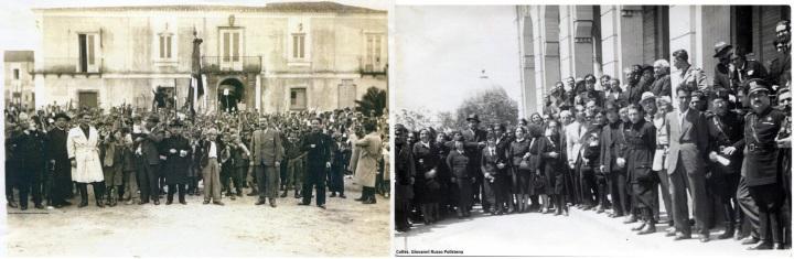RACCOLTA DI FERRO PER LA PATRIA, A POLISTENA, MENTRE ERA PODESTA' L'ING. GIUSEPPE LOMBARDI foto Giavanni Russo